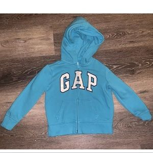 Old Navy Blue Hooded Sweater Girls Size Small 6-7